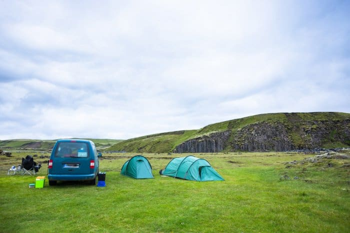 Tent Camping In Iceland
