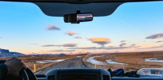 Beautiful views on a road trip in iceland's ring road