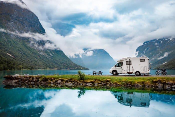 Motorhome rental on a fjord
