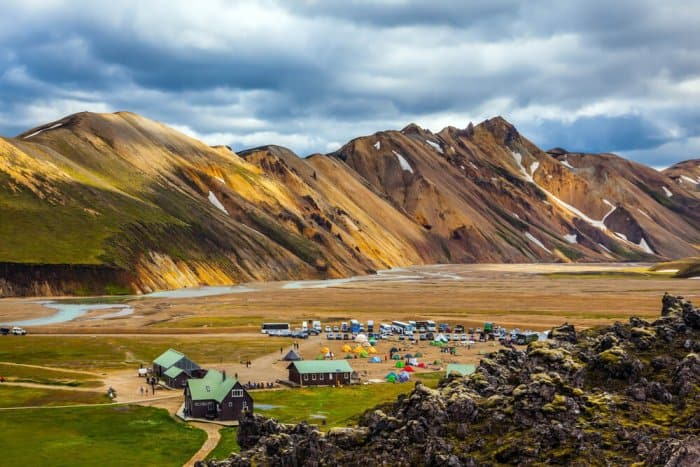 Campsite in the highlands of Iceland