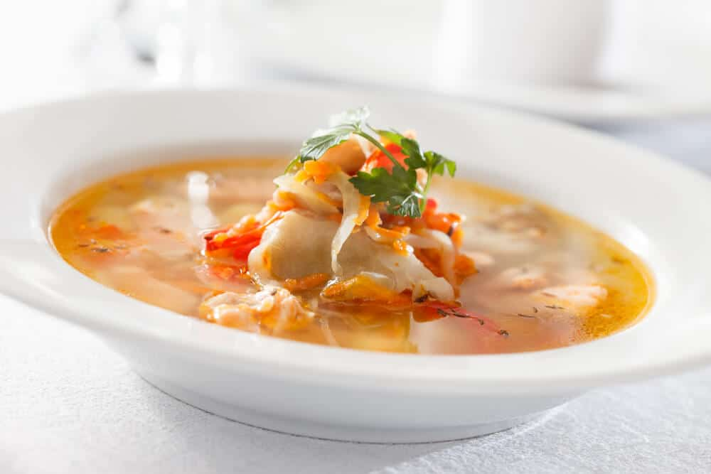 Fish Soup, a traditional dish in dalvik