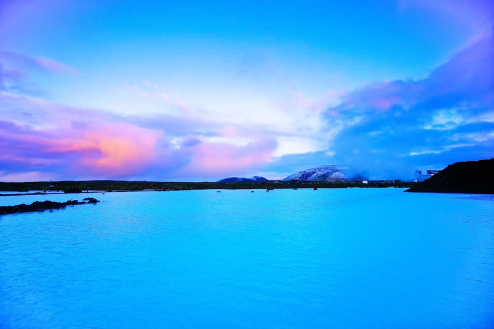 Iceland's Blue Lagoon at dusk is Instagram perfect