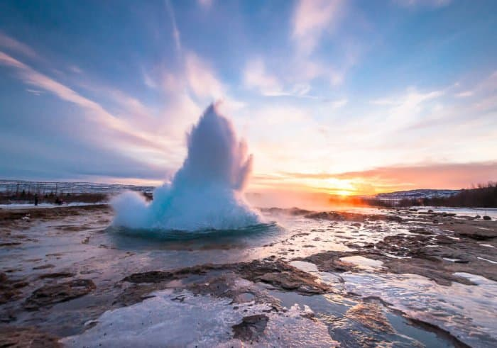 The Strokkur and Geysir geysers at Haukadalur are a must-see in Iceland's Golden Circle