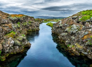 The Silfra Fissure in Iceland's Thingvellir National Park