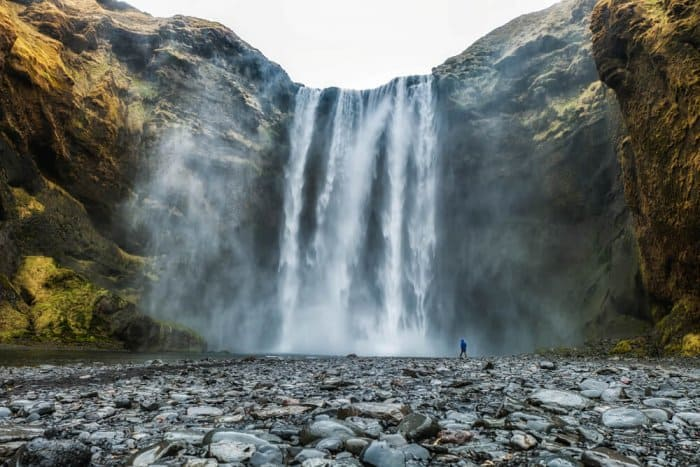 Skogafoss falls on Iceland's southern Ring Road