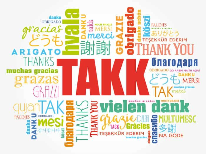 "Takk means ""thank you"" in Icelandic"