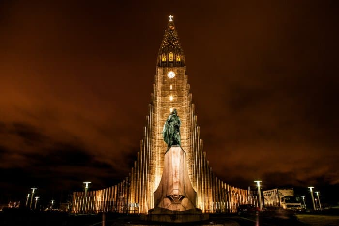 Reykjavik city and its cathedral, which is a main stop in our Road trip in Iceland