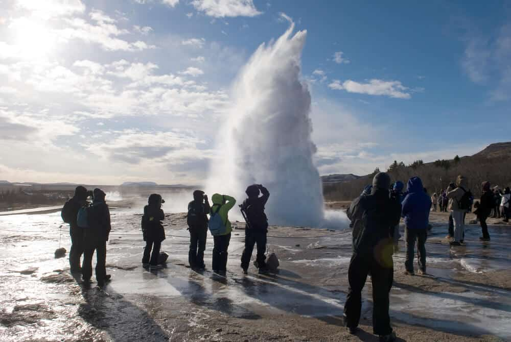 The Golden circle has suffer both the pros and cons of tourism in Iceland