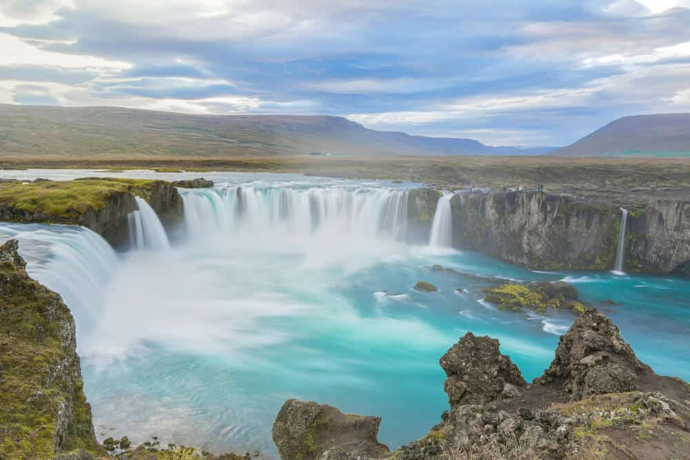 Iceland Weather in August allows most waterfalls to be unfrozen