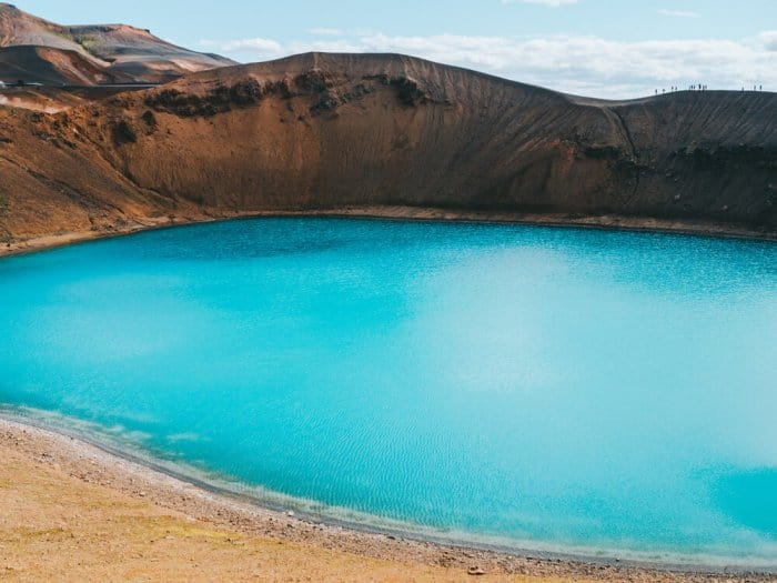Askja caldera and Viti crater lake are close to Lake Mývatn