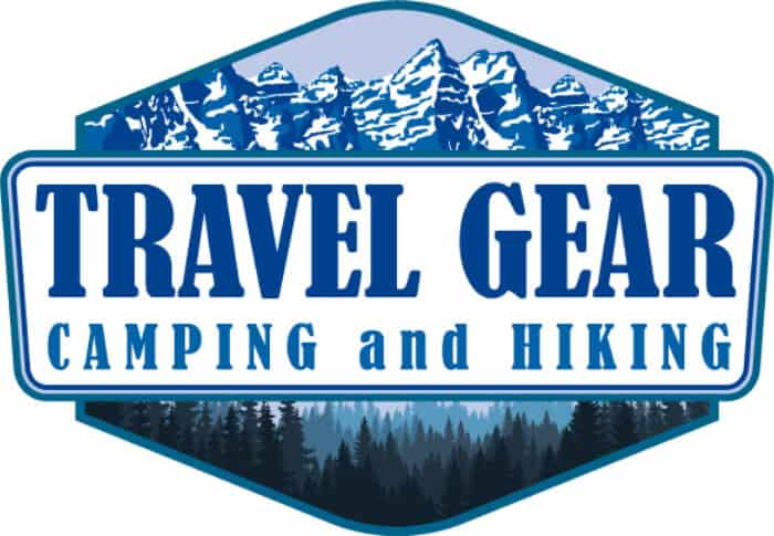 Travel gear for camping and hiking logo for Iceland mountains and woods