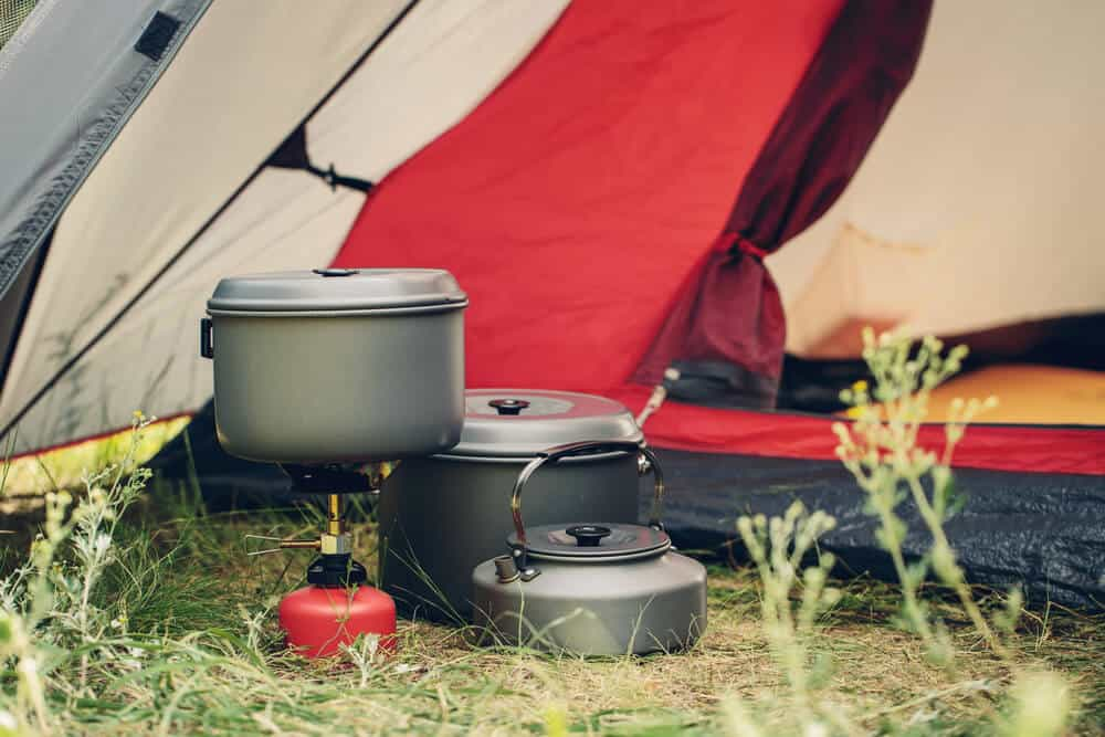 High quality camping stove and pots rented in Iceland