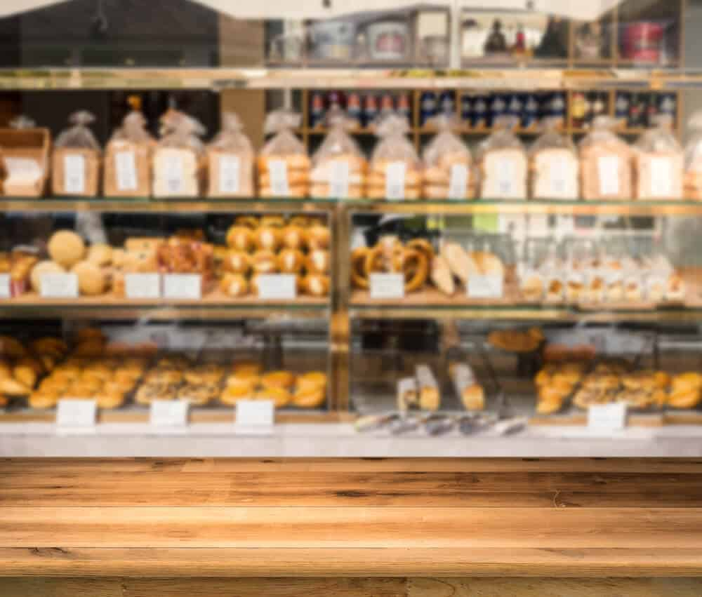 Bakery counter at one of the best bakeries in Reykjavik