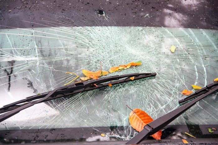 Storm damage on a car rental in Iceland