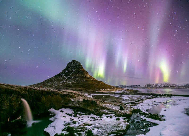 The Northern Lights in November in Iceland
