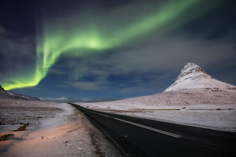 The Northern Lights in December in Iceland