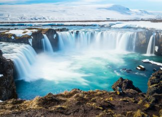 Godafoss waterfall and the Diamond Circle route are a must do on any Iceland itinerary