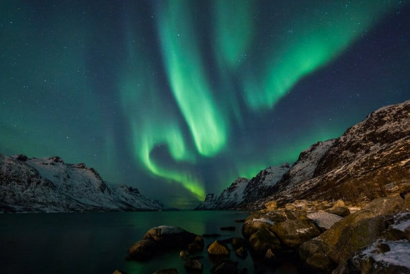 The best month to see the Northern Lights is when the sky is clear and it is dark