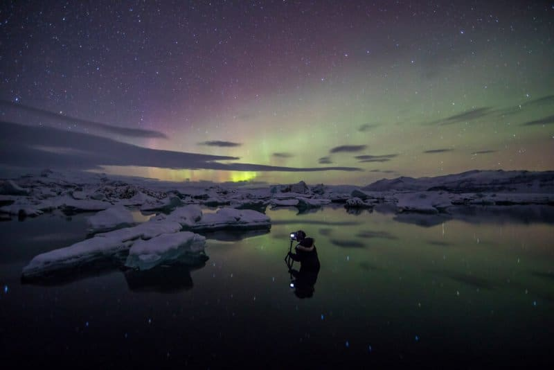 The best month to see the Norther Lights is when the nights are dark