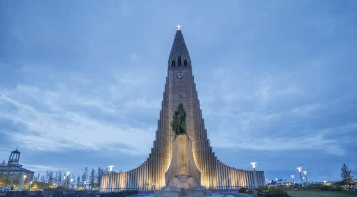 One of Iceland's most spectacular sightseeing locations, the Hallgrímskirkja Cathedral