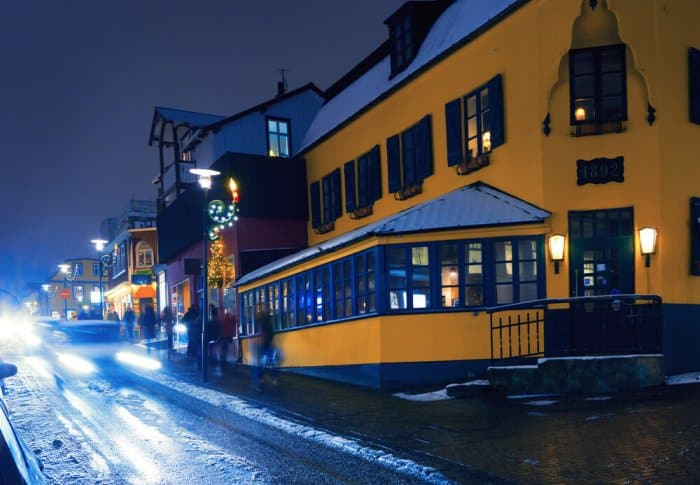 Laugavegur street is the center of Icelandic nightlife. Stop here during your 24-hour layover in Reykjavik