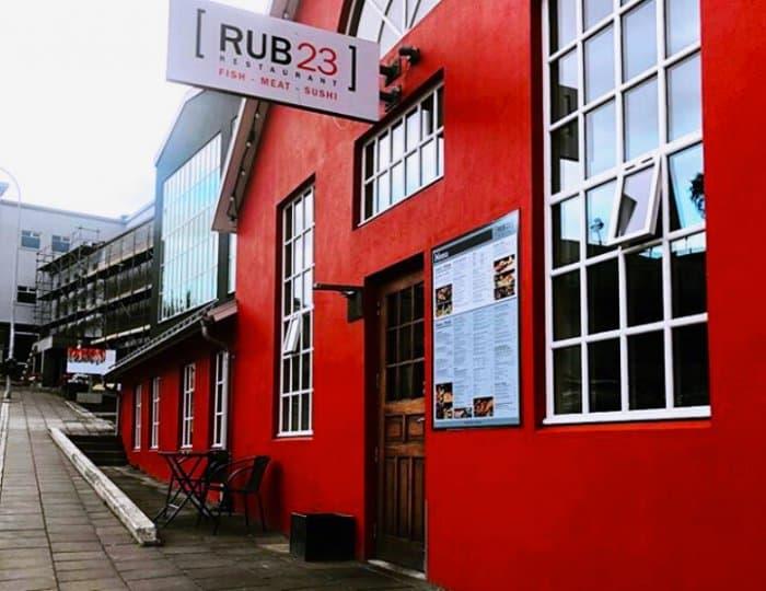 Rub 23 is a popular restaurant in Akureyri