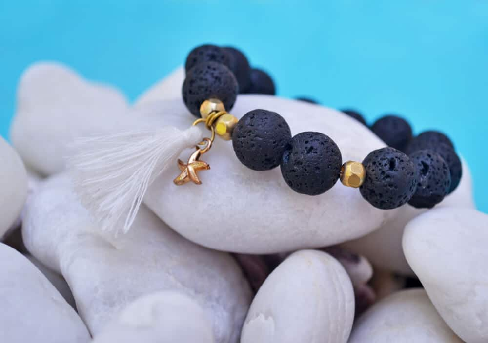 Volcanic lava jewelry is a popular souvenir from Iceland