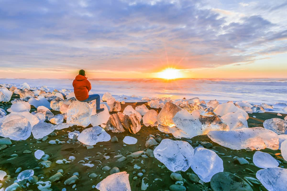 Diamond Beach is one of many attractions along Iceland's Ring Road