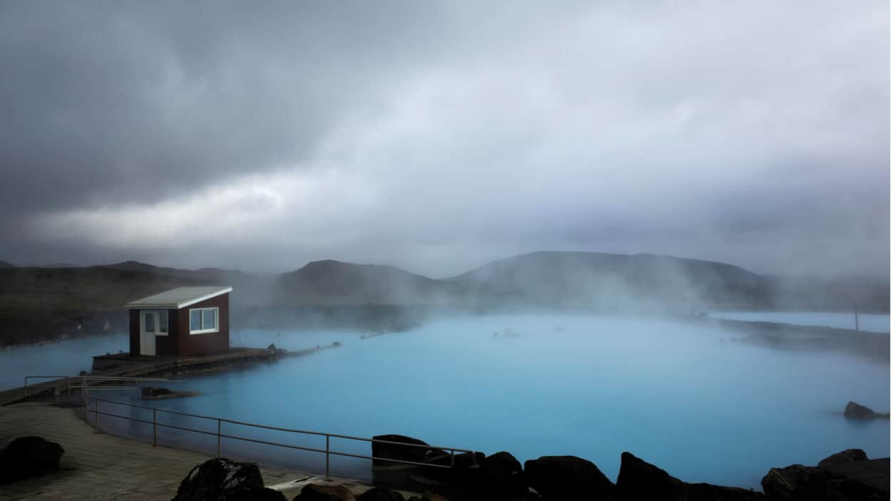 Camping in Iceland in April and May at the Blue Lagoon