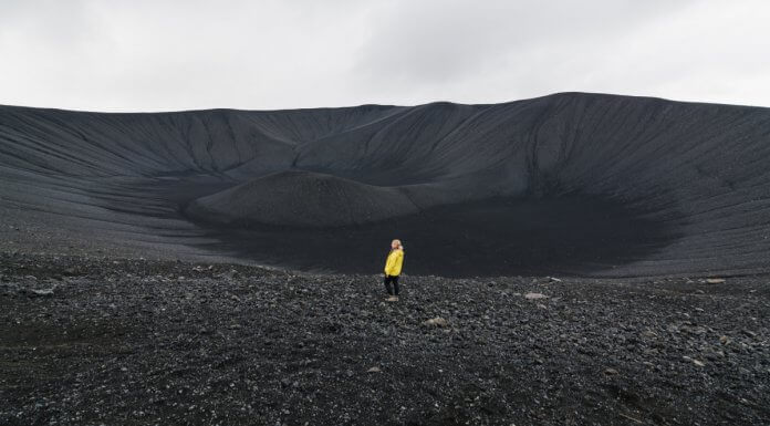 Hverfjall crater is a popular volcano tour in Iceland