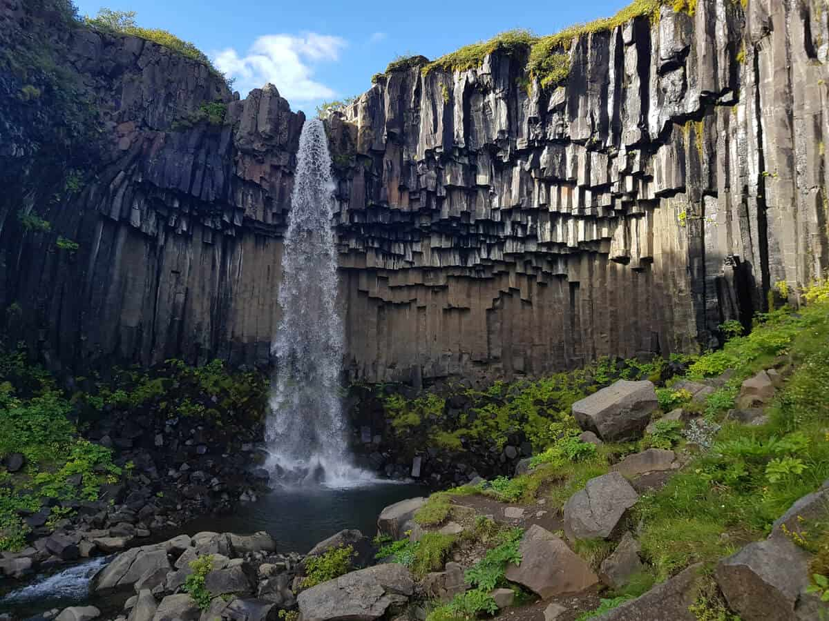 Svartifoss waterfall is Iceland's black waterfall