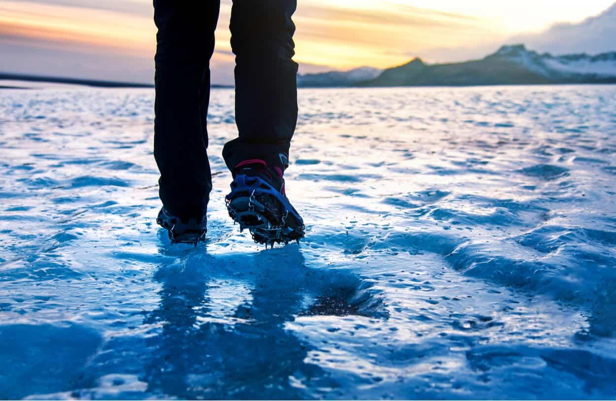 Skaftafell glacier hike and crampons