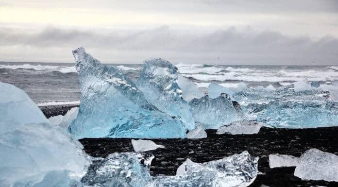 The Diamond Beach in Iceland chunks of ice