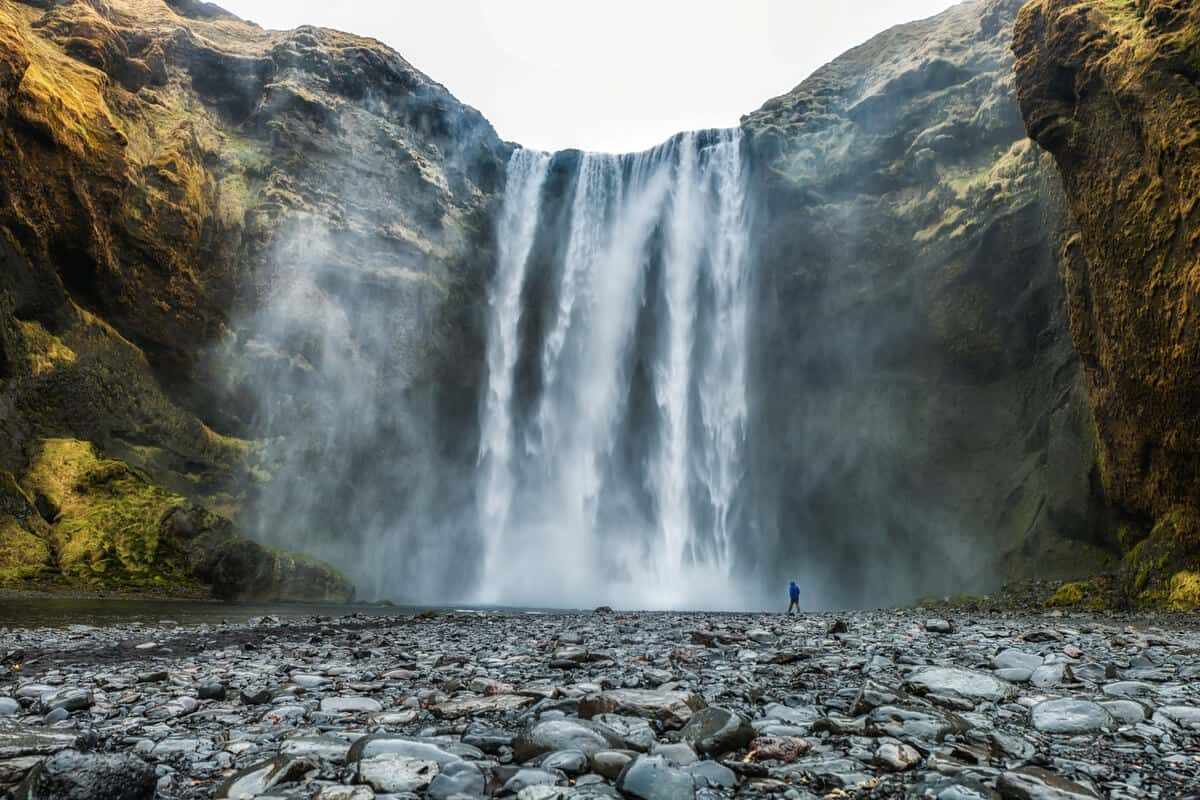 Skógafoss waterfall is a great thing to do in summer in Iceland
