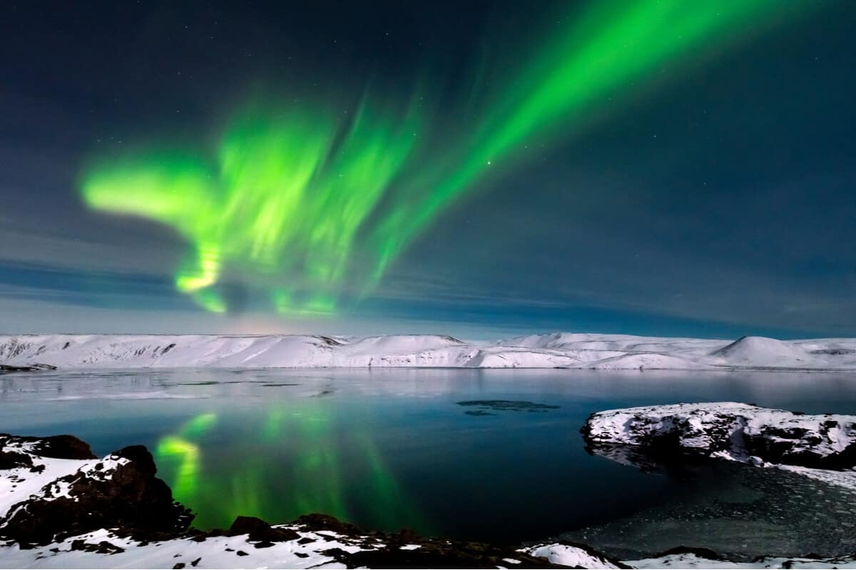 Does Iceland get polar nights with Northern Lights?