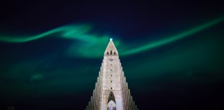 Does Iceland get polar nights? Reykjavik church Northern Lights