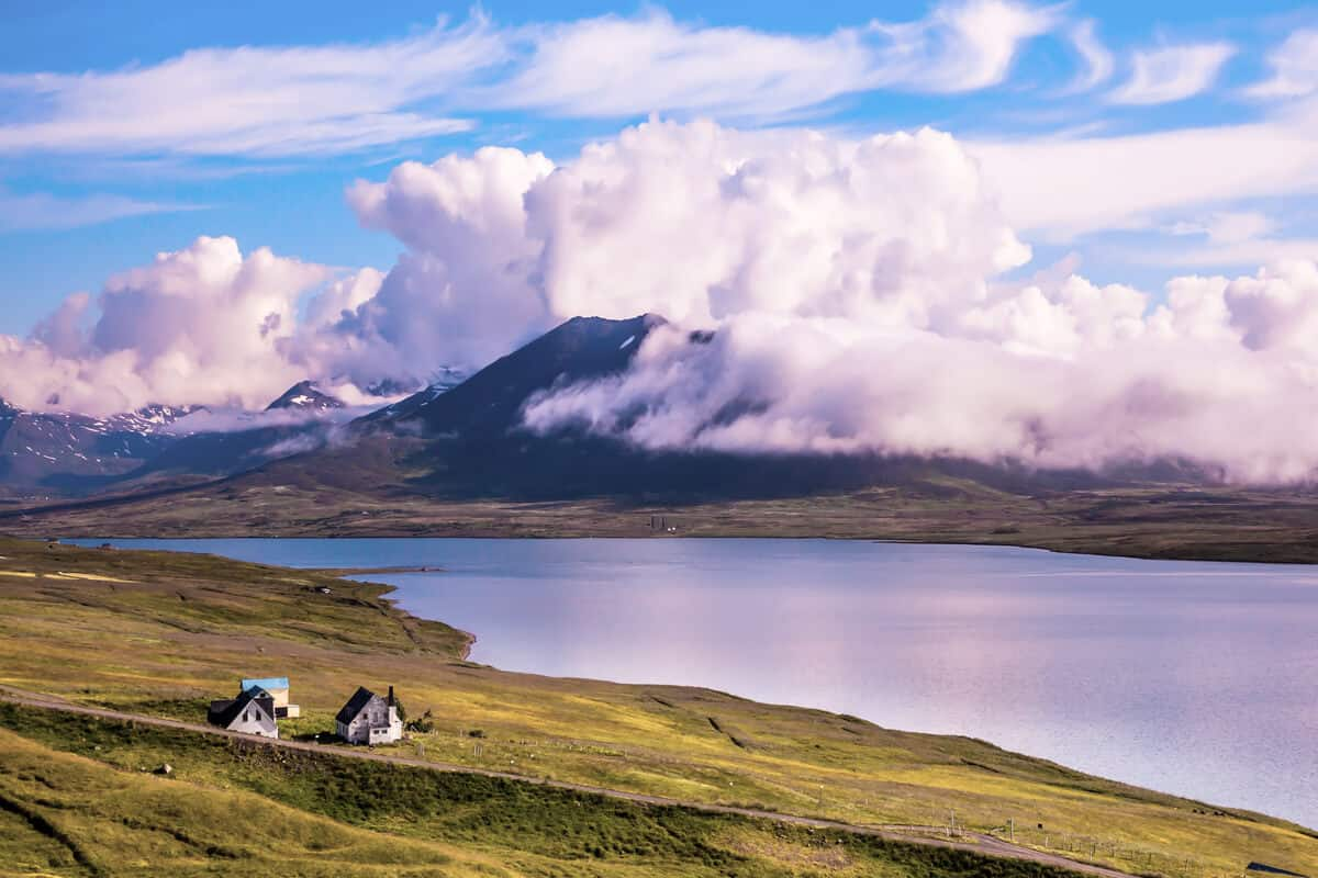 Iceland fjords and beautiful scenery