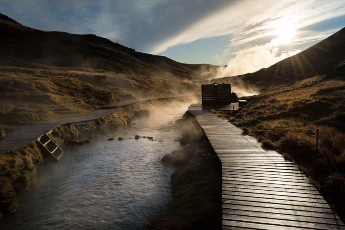 Reykjadalur hot river Iceland