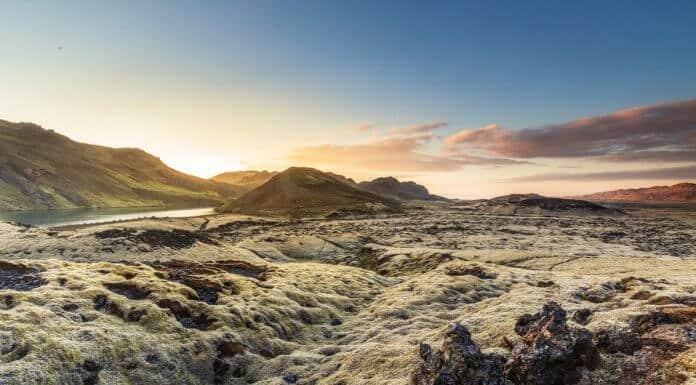 Reykjanes Peninsula Iceland lava fields covered in moss