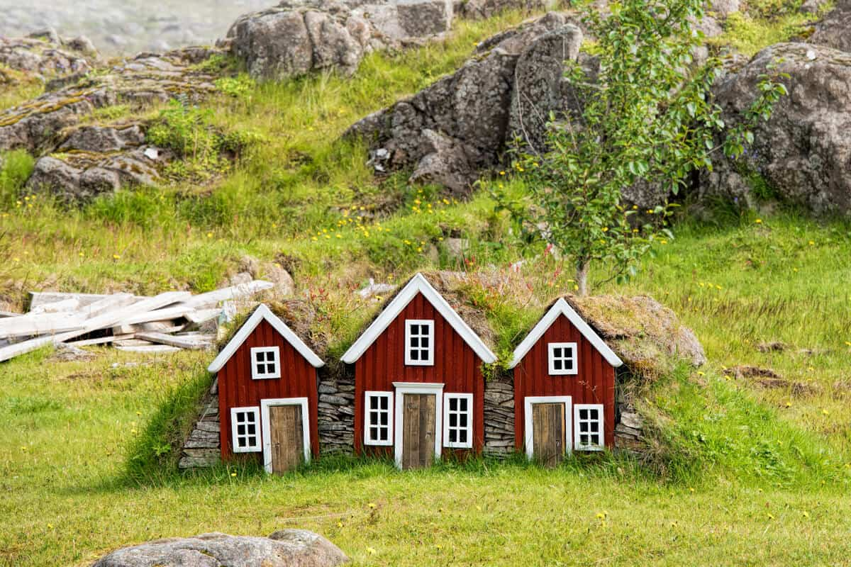 Iceland trolls elves houses