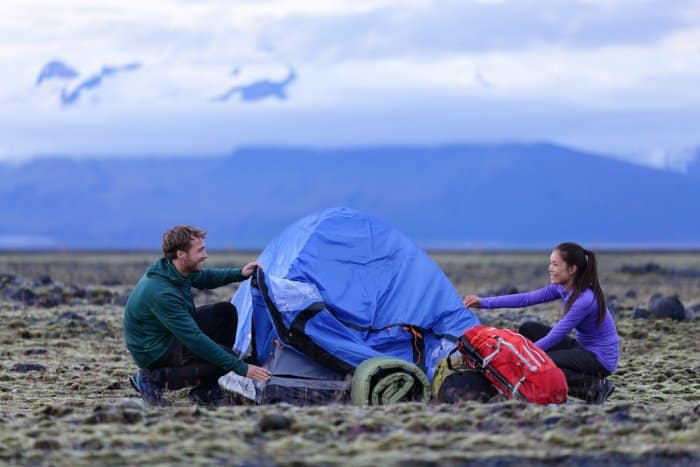 Camping in Iceland in July