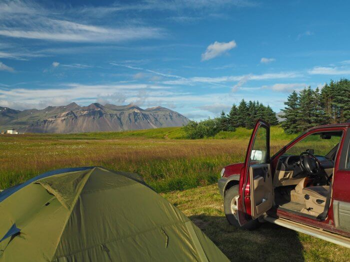 Camping in Iceland in August