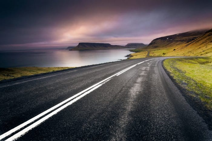 Beautiful views on the Iceland's Ring Road