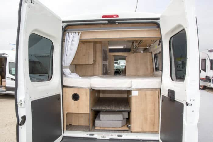 Iceland motorhome being aired out during the day