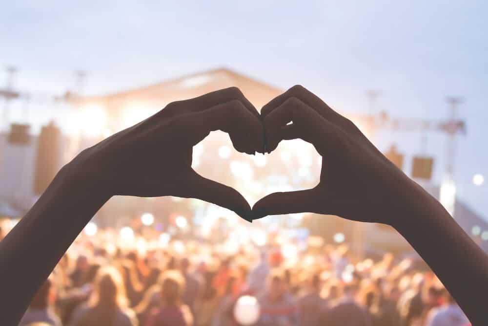 Hands in heart shape at Secret Solstice Music Festival