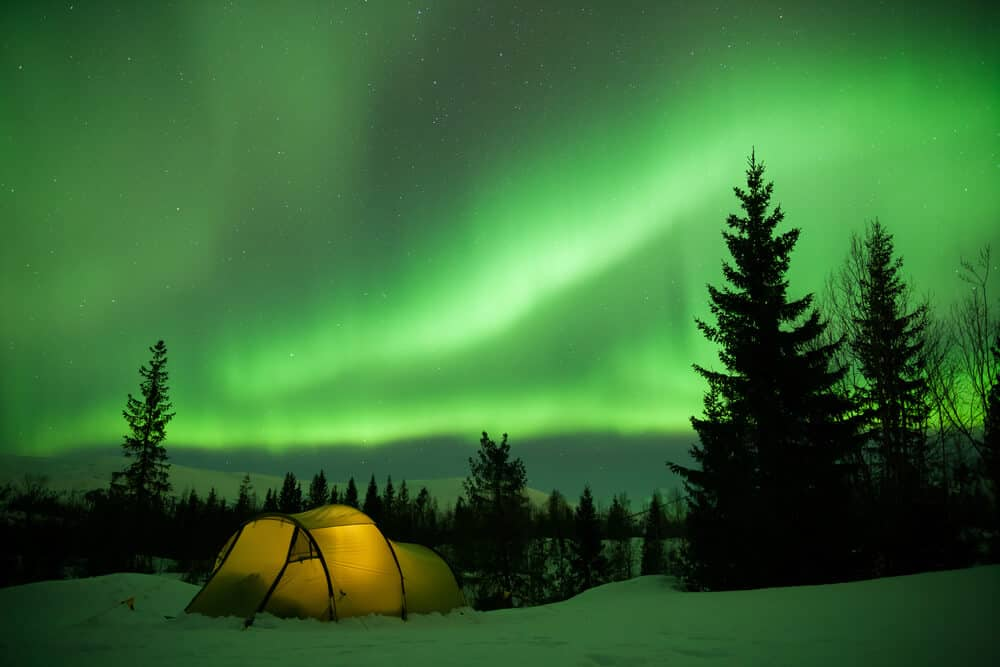 Camping in Iceland under the Northern Lights