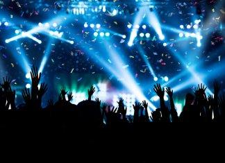 Concertgoers enjoying one of Iceland's numerous summer festivals