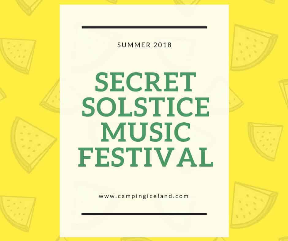 Secret Solstice Music Festival Poster