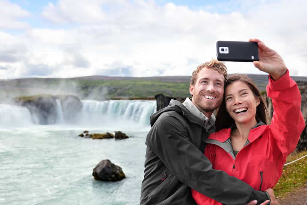 A couple of tourist as an example of Iceland's Tourism Sector growth
