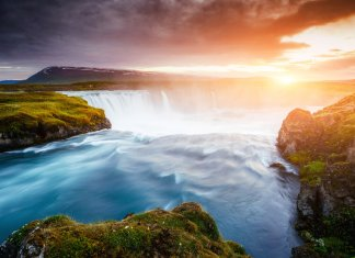 Godafoss is considered one of Iceland's most beautiful waterfalls